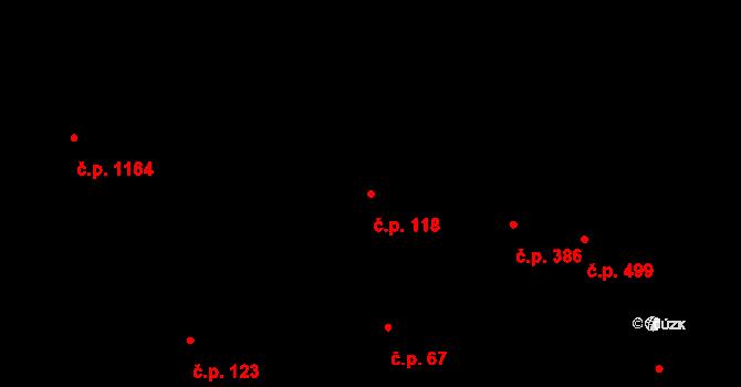 Podolí 118, Praha na parcele st. 326 v KÚ Podolí, Katastrální mapa