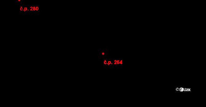 Příbram IV 264, Příbram na parcele st. 2580/3 v KÚ Příbram, Katastrální mapa