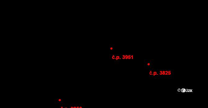 Hodonín 3951 na parcele st. 8534 v KÚ Hodonín, Katastrální mapa
