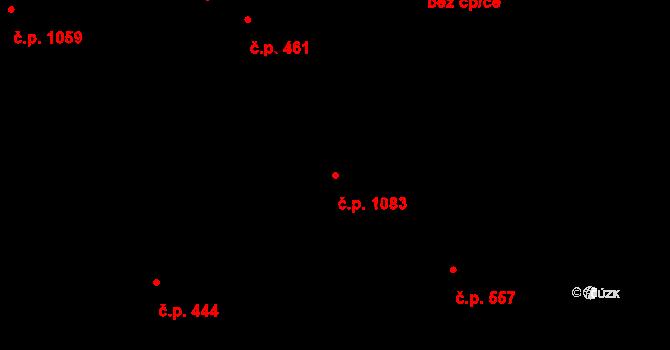 Úpice 1083 na parcele st. 1916 v KÚ Úpice, Katastrální mapa