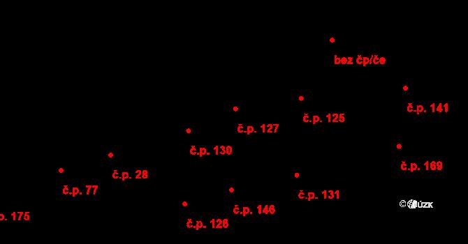 Davle 127 na parcele st. 379 v KÚ Davle, Katastrální mapa