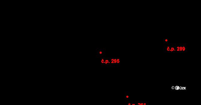 Uhřice 295 na parcele st. 599 v KÚ Uhřice u Kyjova, Katastrální mapa