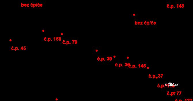 Čejč 39 na parcele st. 575/1 v KÚ Čejč, Katastrální mapa