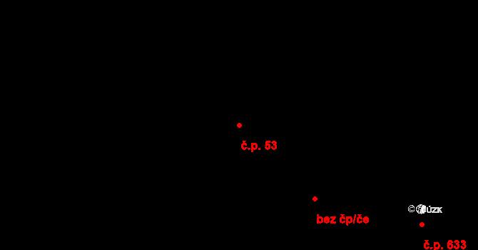 Slavonice 53 na parcele st. 572 v KÚ Slavonice, Katastrální mapa