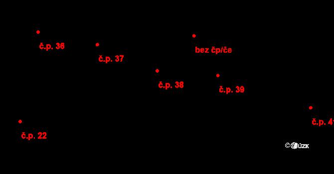 Smrkový Týnec 38, Rabštejnská Lhota na parcele st. 118 v KÚ Smrkový Týnec, Katastrální mapa