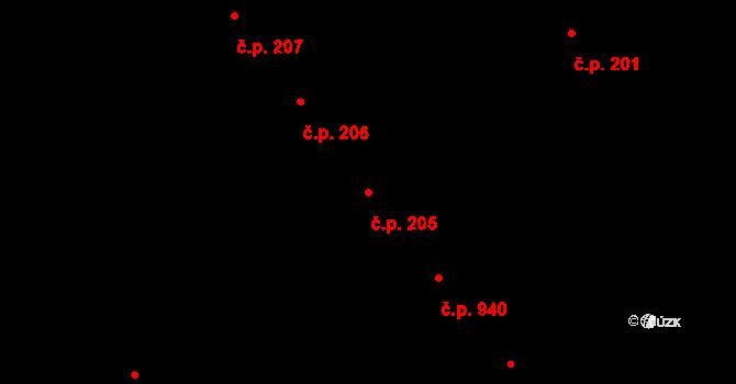 Veveří 205, Brno na parcele st. 430 v KÚ Veveří, Katastrální mapa