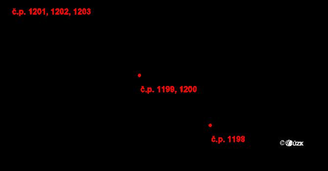 Mladá Boleslav II 1199,1200, Mladá Boleslav na parcele st. 5500 v KÚ Mladá Boleslav, Katastrální mapa