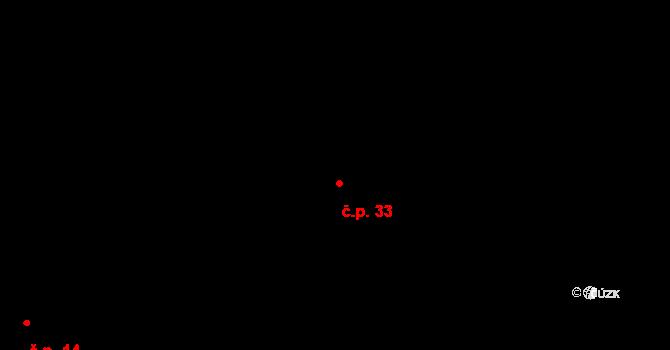 Sloup 33, Davle na parcele st. 209 v KÚ Davle, Katastrální mapa