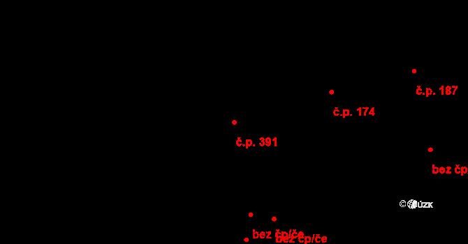 Radobyčice 391, Plzeň na parcele st. 778/19 v KÚ Radobyčice, Katastrální mapa