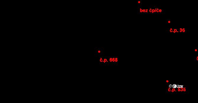 Lučany nad Nisou 668 na parcele st. 815 v KÚ Lučany nad Nisou, Katastrální mapa