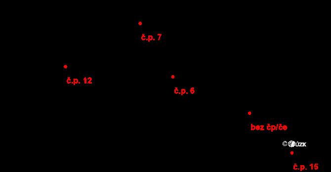 Předboř 6, Luka nad Jihlavou na parcele st. 6 v KÚ Předboř nad Jihlavou, Katastrální mapa