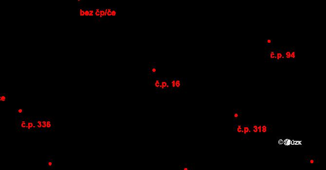 Stará Ves 16 na parcele st. 1 v KÚ Stará Ves u Rýmařova, Katastrální mapa