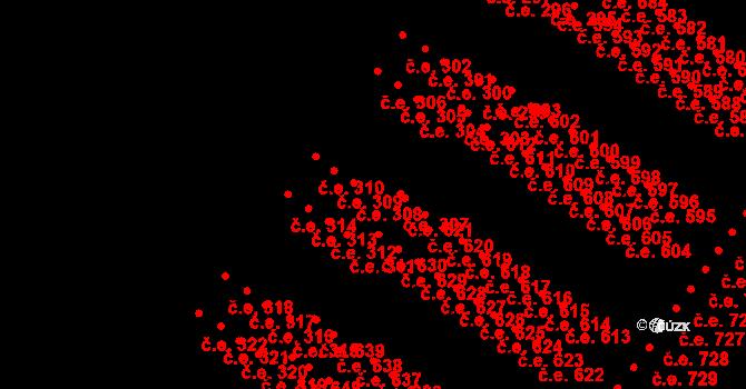 Pístov 307, Jihlava na parcele st. 629 v KÚ Pístov u Jihlavy, Katastrální mapa