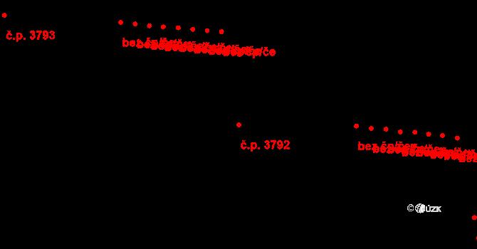 Prostějov 3792 na parcele st. 6330/23 v KÚ Prostějov, Katastrální mapa