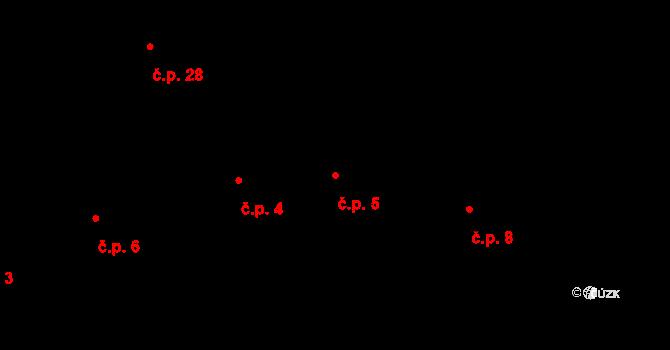 Stachov 5, Blšany na parcele st. 7 v KÚ Stachov u Blšan, Katastrální mapa