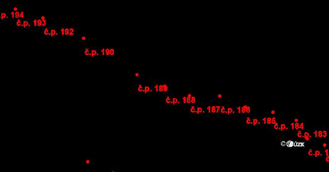 Vysoké Mýto-Město 188, Vysoké Mýto na parcele st. 190/1 v KÚ Vysoké Mýto, Katastrální mapa