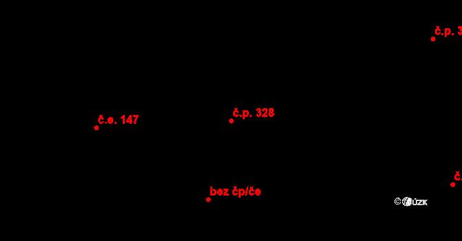 Davle 328 na parcele st. 561 v KÚ Davle, Katastrální mapa