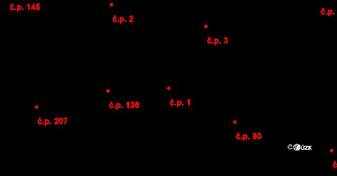 Lípa 1 na parcele st. 451 v KÚ Lípa nad Dřevnicí, Katastrální mapa