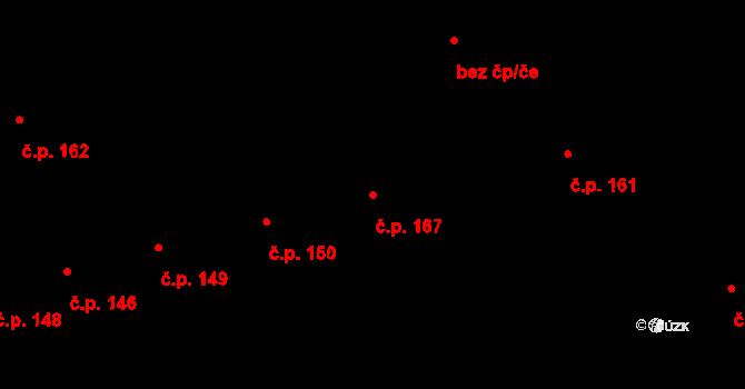 Měrovice nad Hanou 167 na parcele st. 392 v KÚ Měrovice nad Hanou, Katastrální mapa