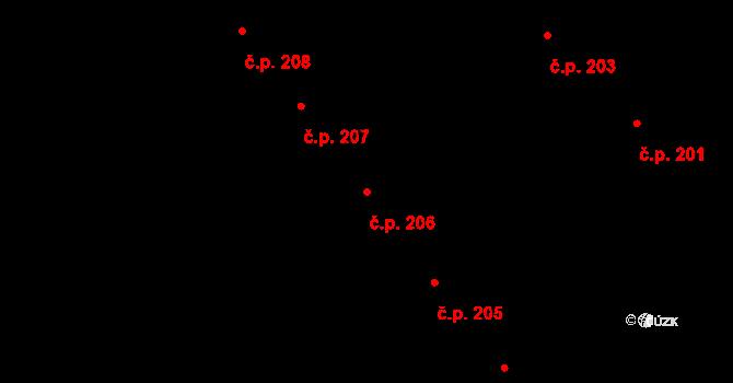 Veveří 206, Brno na parcele st. 428 v KÚ Veveří, Katastrální mapa