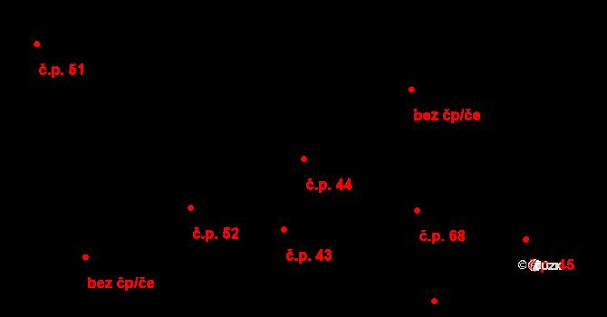 Osek 44 na parcele st. 3 v KÚ Osek u Radomyšle, Katastrální mapa