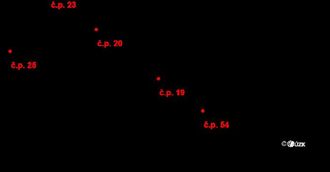 Bílý Kámen 19 na parcele st. 2 v KÚ Bílý Kámen, Katastrální mapa
