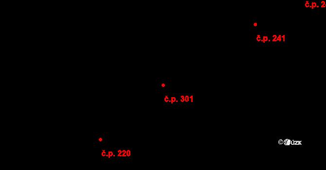 Kudlov 301, Zlín na parcele st. 583 v KÚ Kudlov, Katastrální mapa