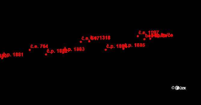 Aš 1884 na parcele st. 2014 v KÚ Aš, Katastrální mapa