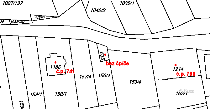 Zlín 47860863 na parcele st. 635 v KÚ Prštné, Katastrální mapa