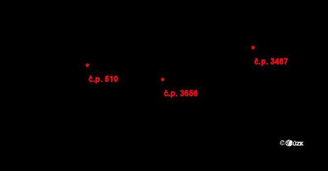 Frýdek 3656, Frýdek-Místek na parcele st. 6222/4 v KÚ Frýdek, Katastrální mapa