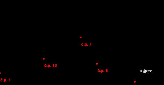 Předboř 7, Luka nad Jihlavou na parcele st. 5 v KÚ Předboř nad Jihlavou, Katastrální mapa