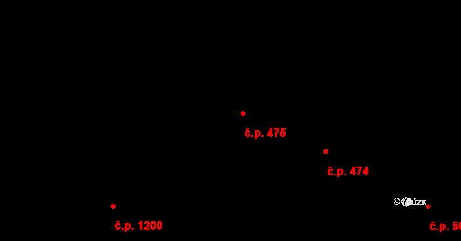 Lovosice 475 na parcele st. 147 v KÚ Lovosice, Katastrální mapa