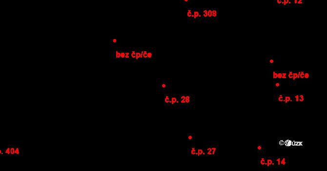 Mladcová 28, Zlín na parcele st. 27 v KÚ Mladcová, Katastrální mapa