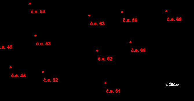 Prštné 62, Zlín na parcele st. 854 v KÚ Prštné, Katastrální mapa