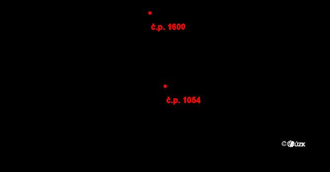 Holešovice 1054, Praha na parcele st. 644/1 v KÚ Holešovice, Katastrální mapa