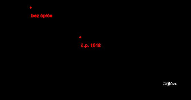 Hostivař 1518, Praha na parcele st. 1818/260 v KÚ Hostivař, Katastrální mapa