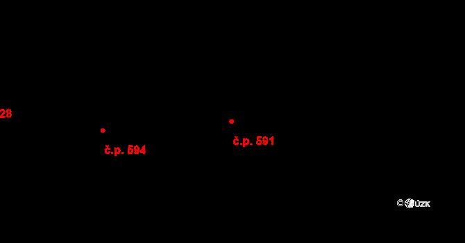 Mladcová 591, Zlín na parcele st. 1028 v KÚ Mladcová, Katastrální mapa