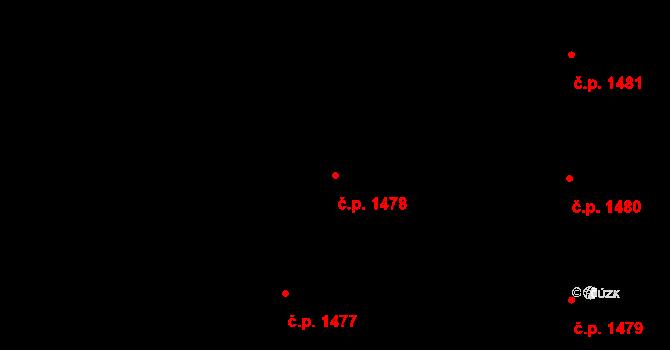 Podlesí 1478, Havířov na parcele st. 524/17 v KÚ Bludovice, Katastrální mapa