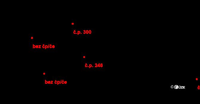 Chrudim IV 246, Chrudim na parcele st. 903/1 v KÚ Chrudim, Katastrální mapa