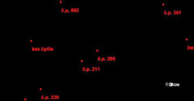 Studánka 290, Pardubice na parcele st. 347 v KÚ Studánka, Katastrální mapa