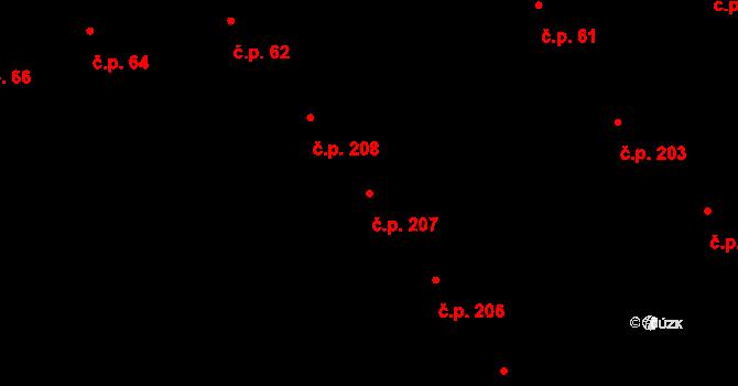 Veveří 207, Brno na parcele st. 426 v KÚ Veveří, Katastrální mapa