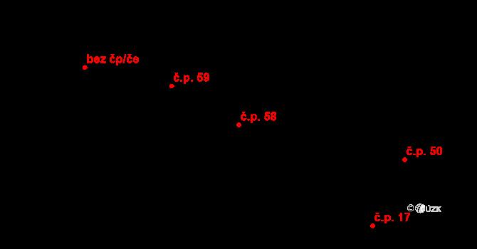 Kozašice 58, Jankovice na parcele st. 10/4 v KÚ Kozašice, Katastrální mapa