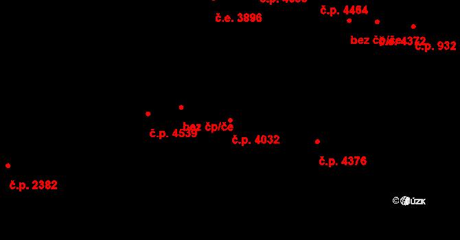 Jihlava 4032 na parcele st. 5405/2 v KÚ Jihlava, Katastrální mapa