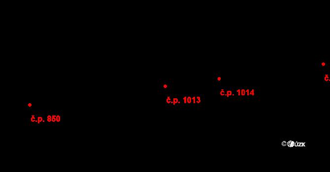 Úpice 1013 na parcele st. 1230/1 v KÚ Úpice, Katastrální mapa