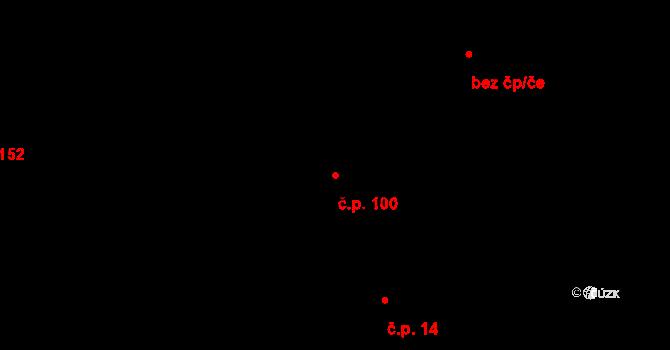 Studánka 100 na parcele st. 93/2 v KÚ Studánka u Tachova, Katastrální mapa