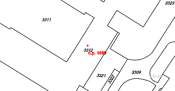 Slatina 1089, Brno na parcele st. 3312 v KÚ Slatina, Katastrální mapa