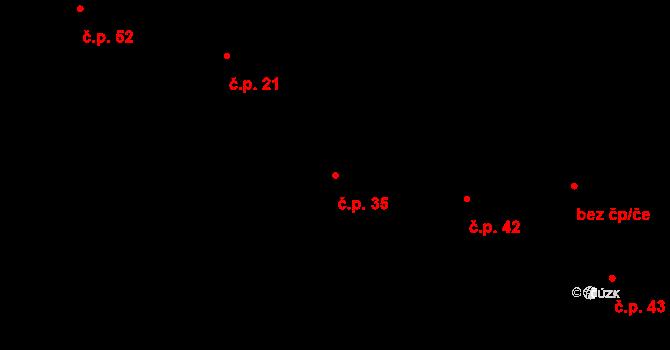 Časy 35 na parcele st. 37 v KÚ Časy, Katastrální mapa