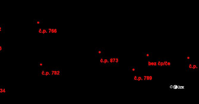 Svítkov 873, Pardubice na parcele st. 1139 v KÚ Svítkov, Katastrální mapa