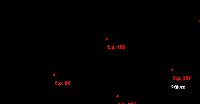 Bílý Potok 182 na parcele st. 189 v KÚ Bílý Potok pod Smrkem, Katastrální mapa