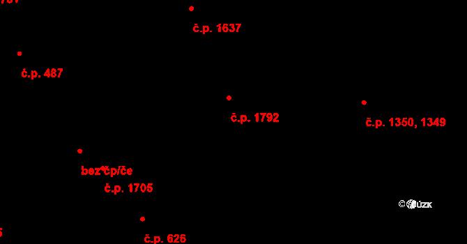 Vlašim 1792 na parcele st. 2858 v KÚ Vlašim, Katastrální mapa